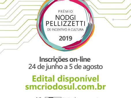 Prêmio Nodgi Pellizzetti de Incentivo à Cultura lança edital: inscrições a partir de 24/06