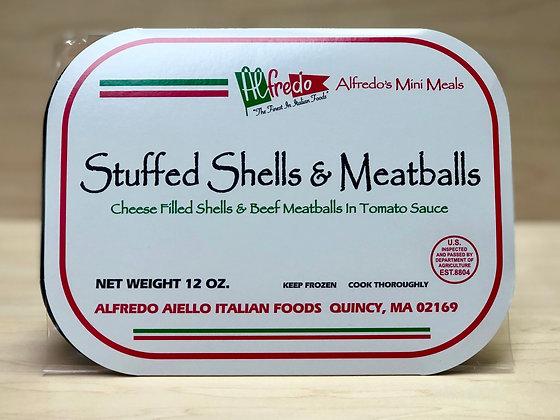 Alfredo Mini Shells & Meatballs