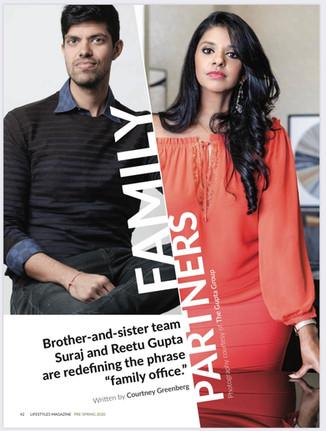 Suraj & Reetu Gupta Profiled in Lifestyles Magazine