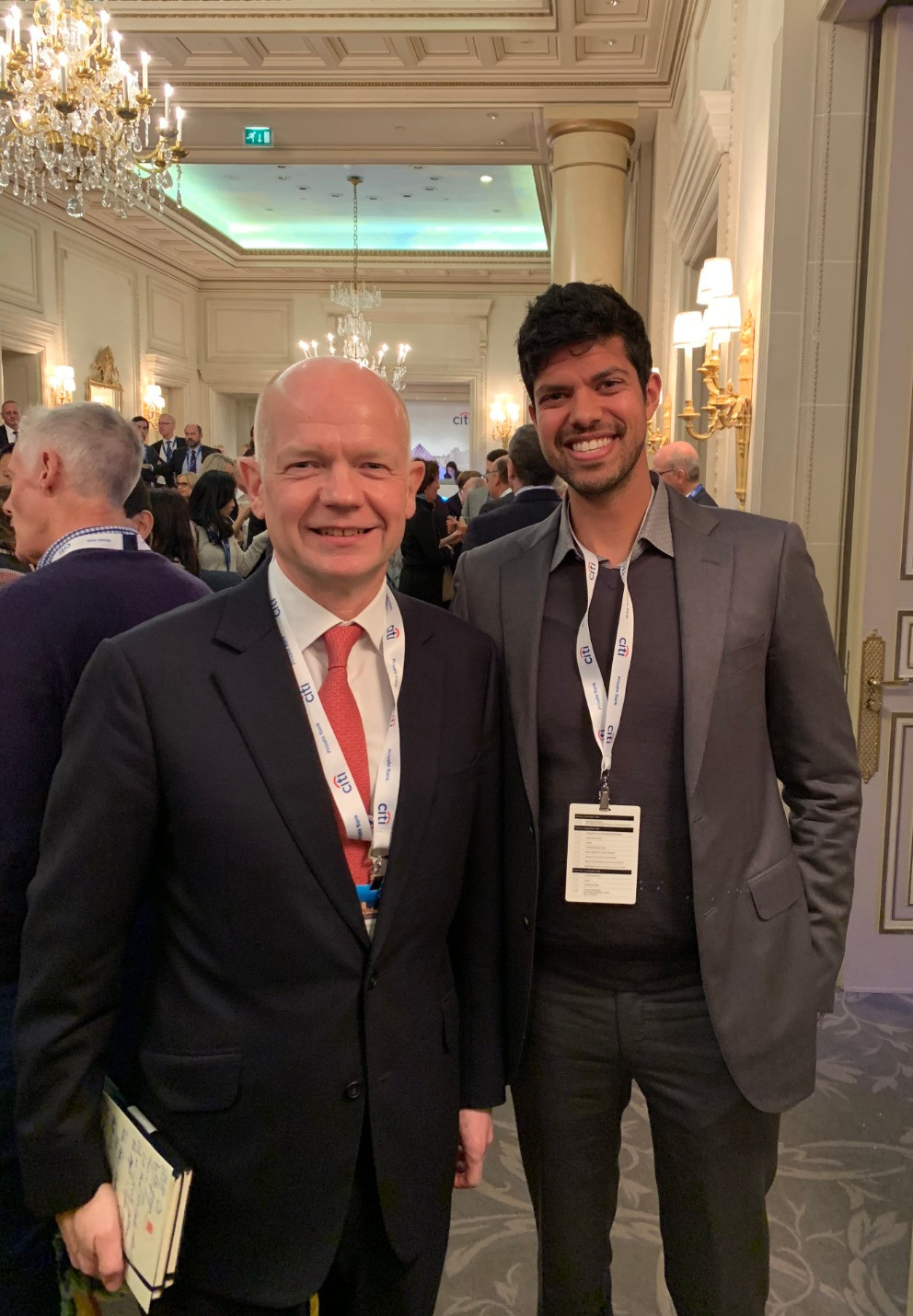Suraj K. Gupta with Lord William Hague, The Rt Hon. the Lord Hague of Richmond