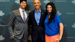 Rogue Co-Founders, Suraj Gupta and Reetu Gupta, meet former President Barack Obama