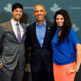 Rogue Co-Founders, Suraj Gupta and Reetu Gupta, meet former President Barack Obama
