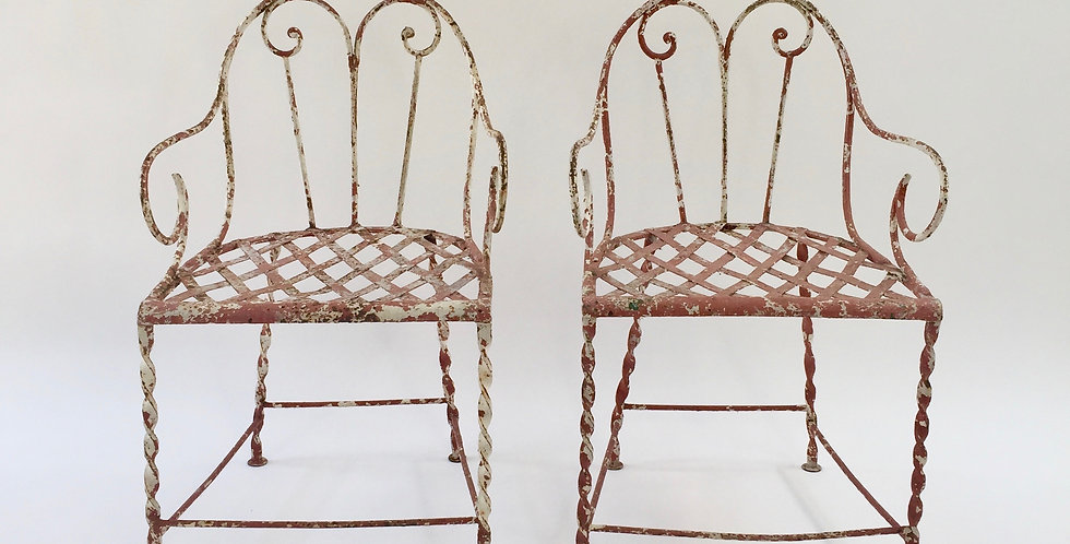 Pair of 19th Century French Garden Chairs