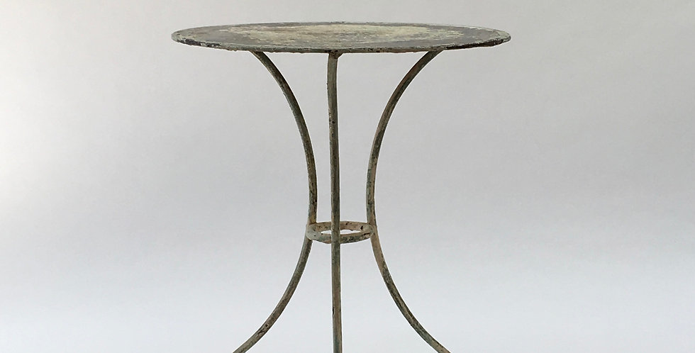 Vintage French Bistro Table Garden Table with beautiful patina