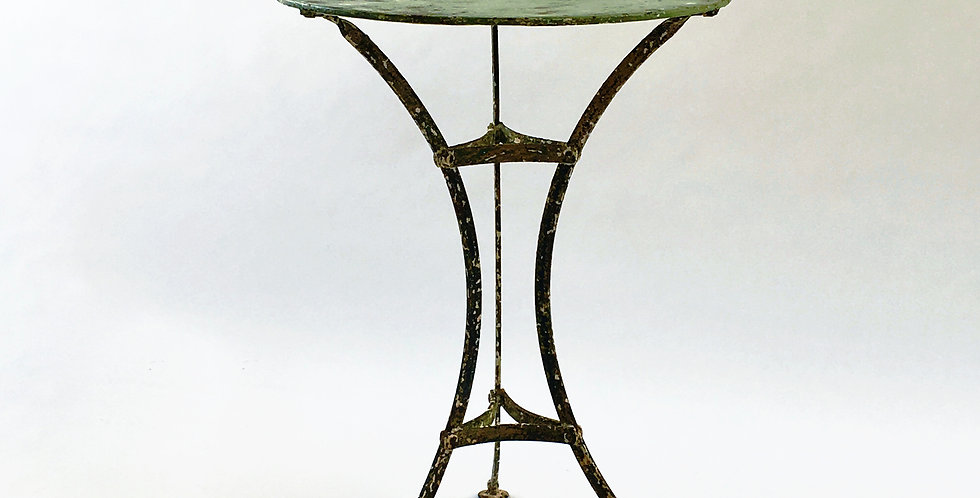 Antique Vintage French Bistro Table Garden Table