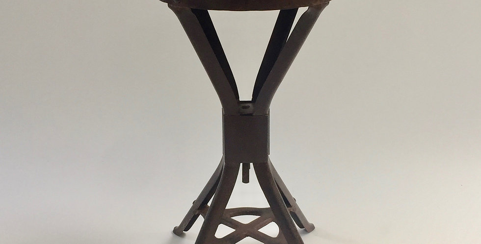 Vintage Industrial Brooks Evertaut Factory Stool