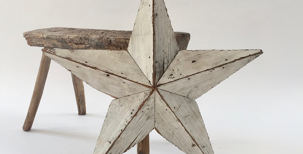 Amish Wooden Barn Star - Small