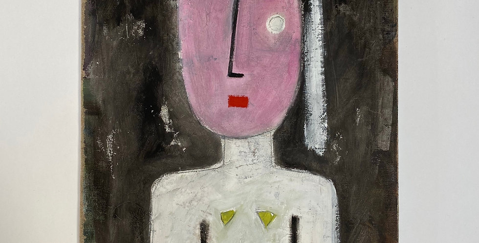 French Modern Art Painting of a Female Figure on Canvas