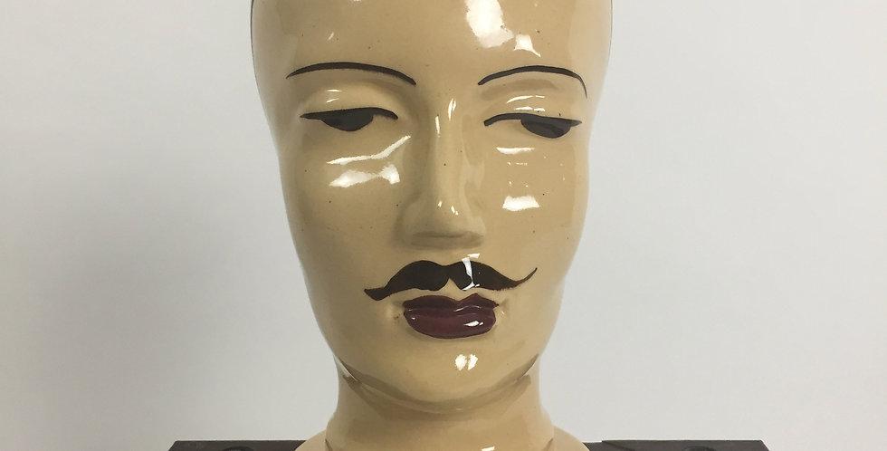 Glazed Ceramic Mannequin Head 701 W. Germany