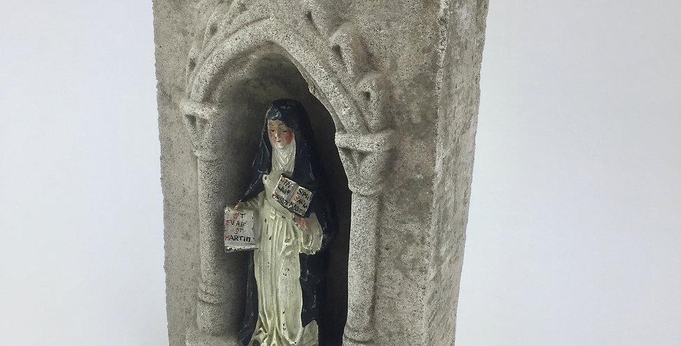 Devotional Statue in Stone Shrine