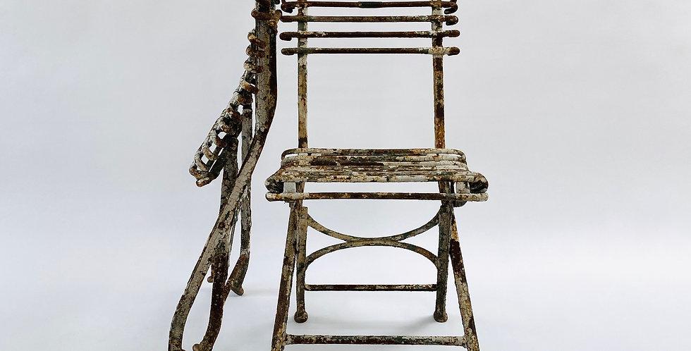 Pair of Antique Arras Garden Chairs