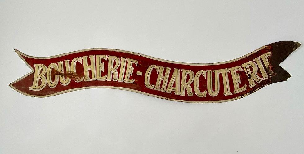 Vintage Boucherie Charcuterie Shop Sign