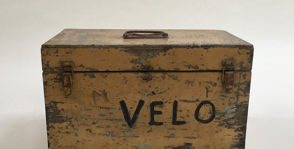 Vintage French Velo Bicycle Shop Toolbox Cyclist storage box