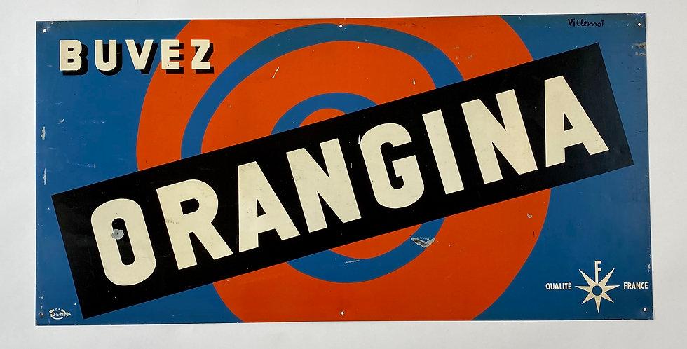 Vintage French Orangina Sign