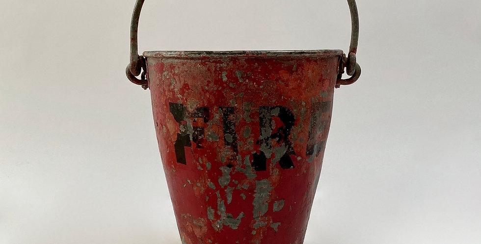 British Metal Fire Bucket