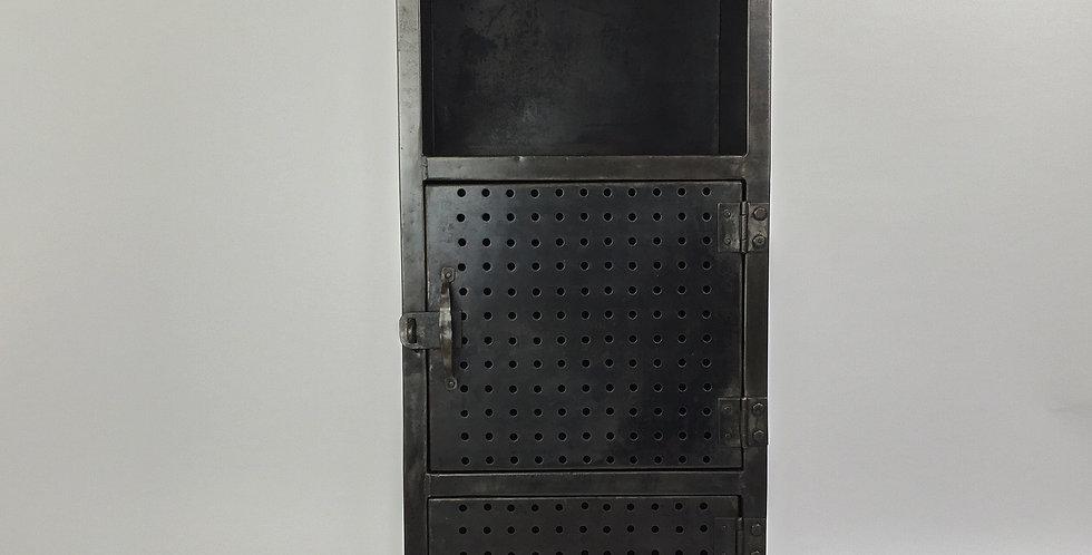 1950s Industrial Metal Engineer's Cabinet Locker