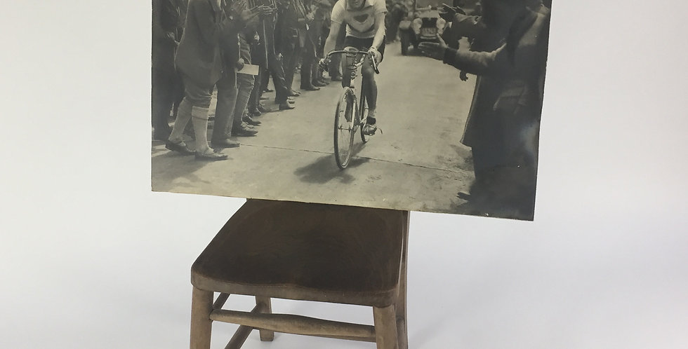 Vintage Cycling Race Black and White Print