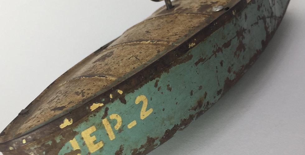 Vintage JEP French Clockwork Tin Boat