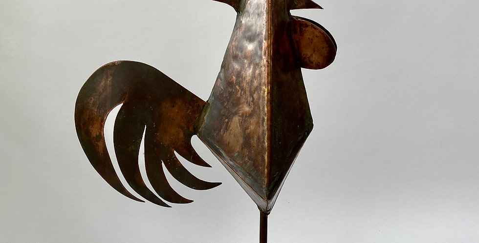 Vintage French copper Coq De Clocher