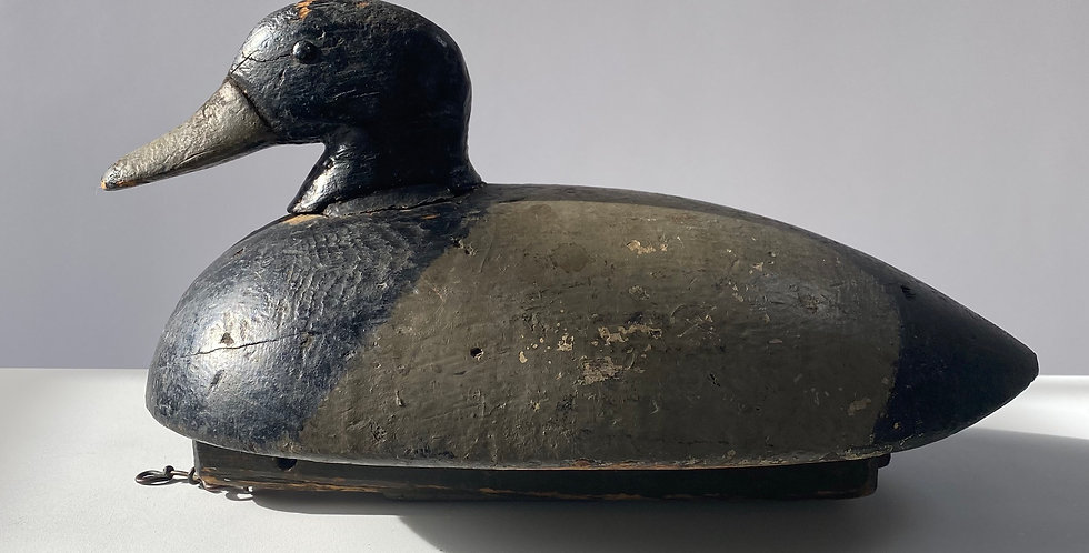 Early Wooden Painted Decoy Duck