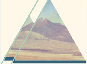 Abstract Triangles Album Cover