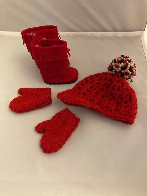Hat, Mittens and Boot Combo