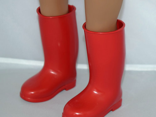 Red Rain Boots for 18 Inch Dolls
