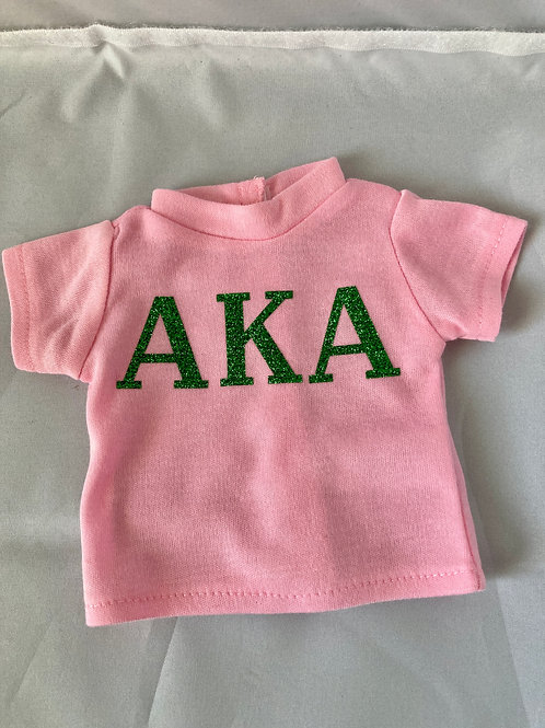 Sorority Tee Shirts for 18 inch Dolls