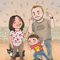 Jeff, Cristal, Logan & Smooshi