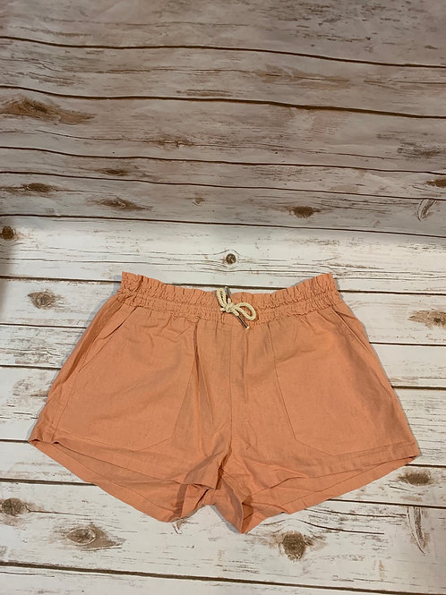Peach Drawsting Shorts