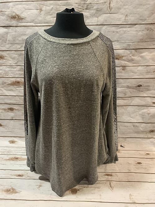 Grey sequin sweater