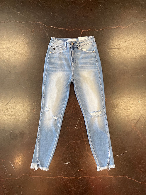 Light Wash- High Rise- Ankle Skinny
