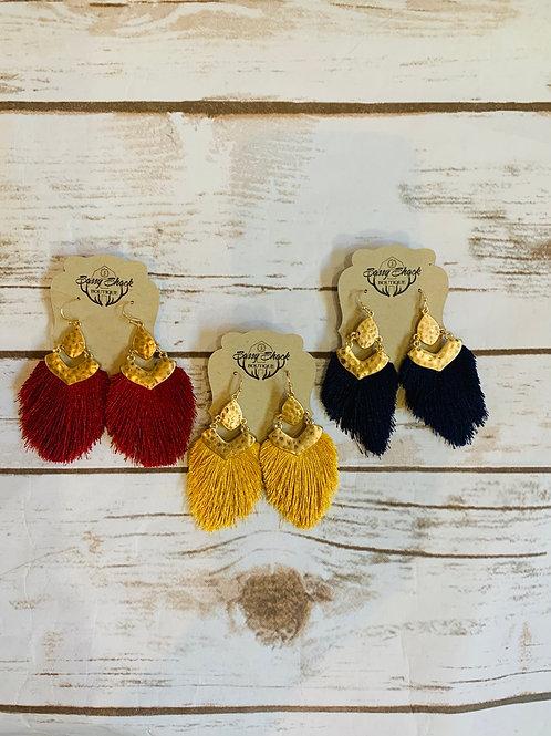Dangle Pom Earrings