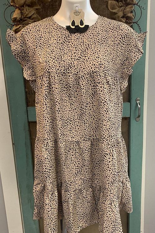Spotted Ruffle Dress