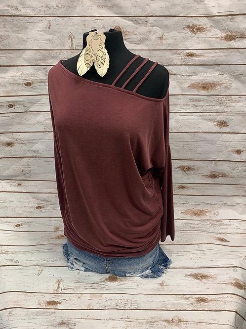 Mauve 3 strap shoulder