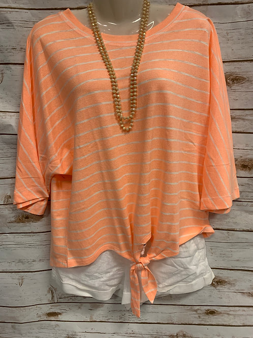 Neon Orange with White Stripes
