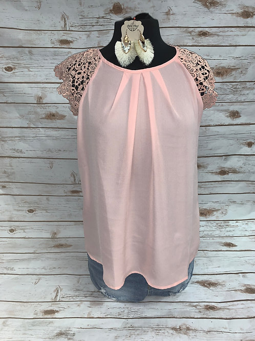 Light Pink with Lace Sleeves