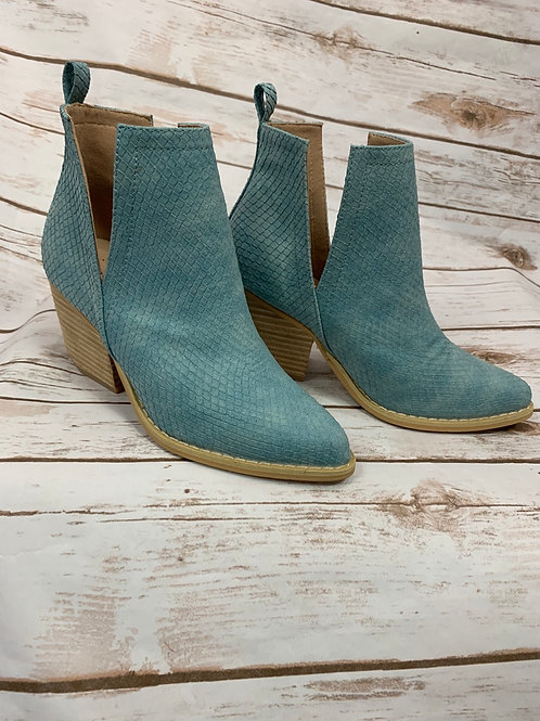 Turquoise snake boots