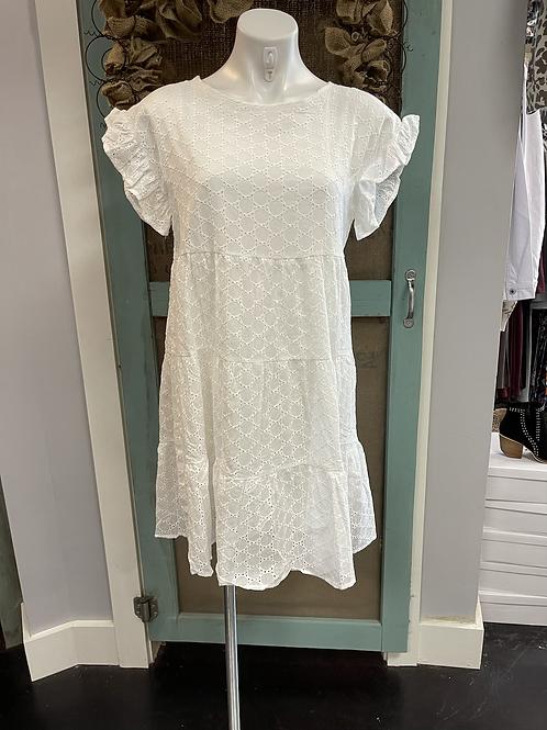 White Tiered Dress