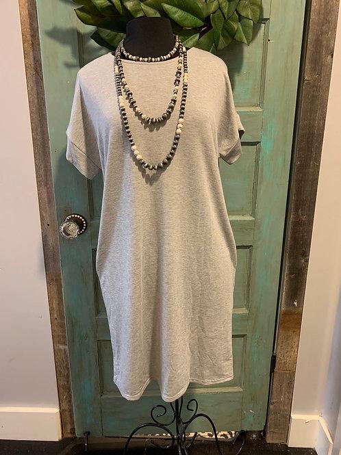Light Grey Soft Dress