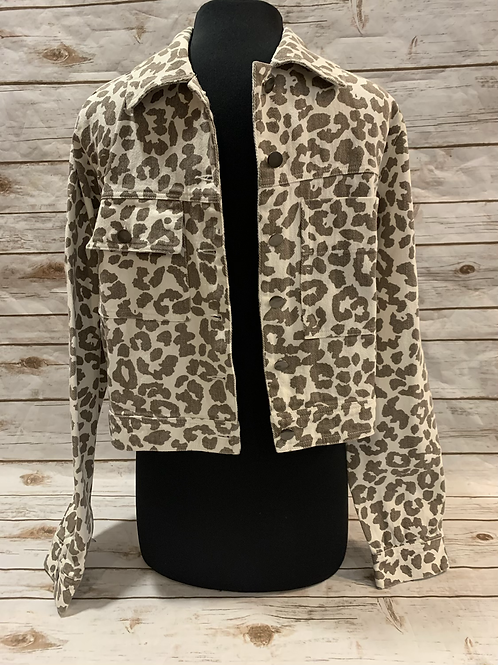 Ivory Leopard Jacket