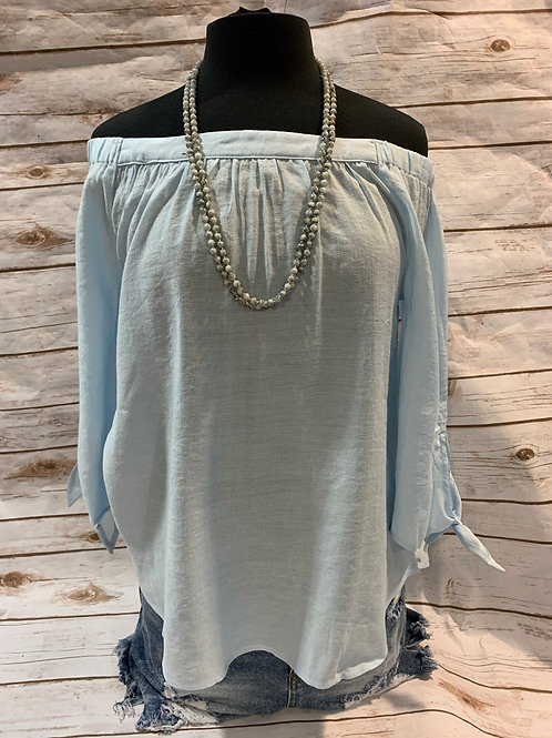 Baby Blue Off Shoulder W/ arms ties