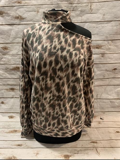 Cut out shoulder Cheetah