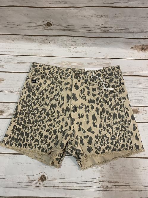 Leopard denim cutoffs