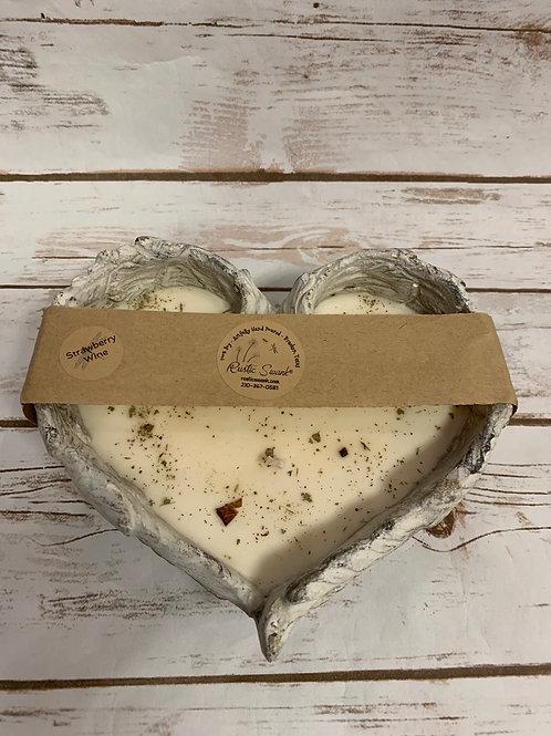 Refillable Medium Heart Candle