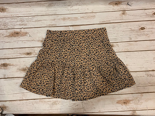Taupe Leopard Skort
