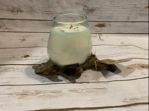 Refillable Driftwood Candle