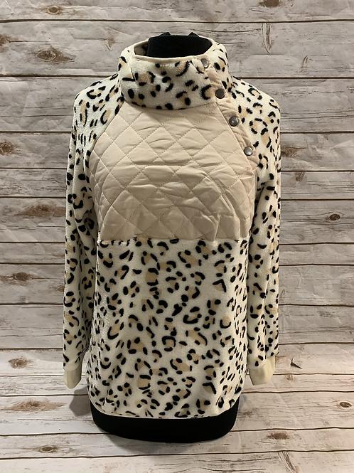 Leopard Snap Pullover