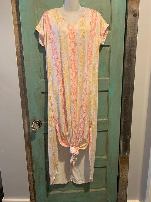 Peach Multi Snake Dress