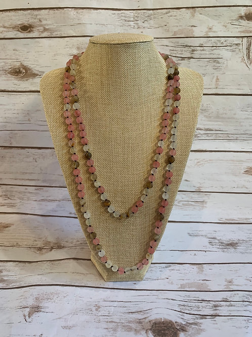 Pink Bead Necklace